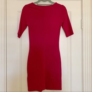 Topshop Dresses - Pink Topshop Bodycon Minidress 3/4 Sleeve